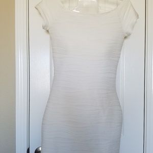 Derek Heart White Off the Shoulder Dress